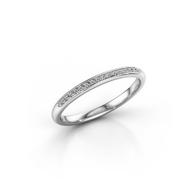 Stackable ring SR20B2H 950 platinum diamond 0.08 crt