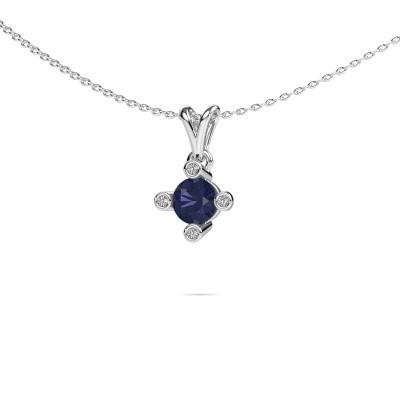 Picture of Pendant Cornelia Round 950 platinum sapphire 5.5 mm