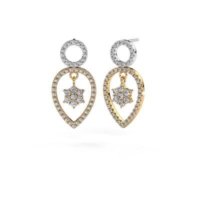 Picture of Drop earrings Lauralee 2 585 gold zirconia 2 mm