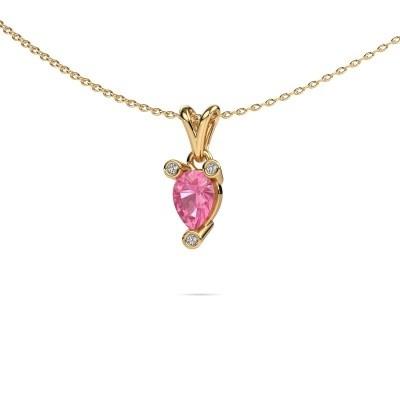 Bild von Kette Cornelia Pear 375 Gold Pink Saphir 7x5 mm