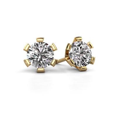 Oorstekers Shana 375 goud diamant 1.00 crt