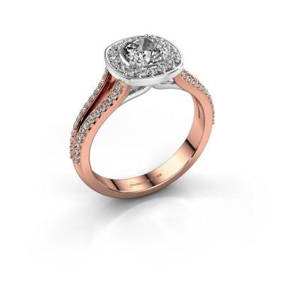 Engagement ring Carolina 2 585 rose gold diamond 0.90 crt
