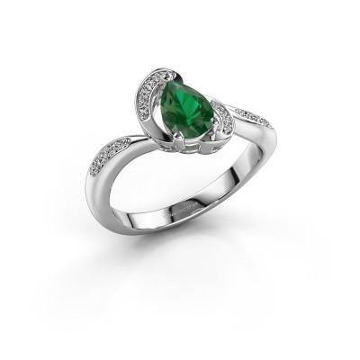 Foto van Ring Jonelle 925 zilver smaragd 7x5 mm