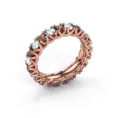 Foto van Ring Fenna 375 rosé goud rookkwarts 3 mm