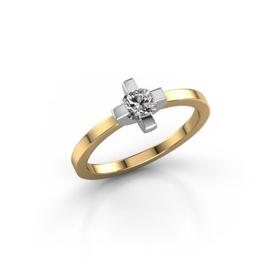 Ring Therese 585 goud zirkonia 4.2 mm
