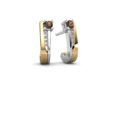 Oorbellen Jewell 585 goud rookkwarts 2.7 mm