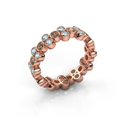 Ring Victoria 375 rose gold brown diamond 0.66 crt