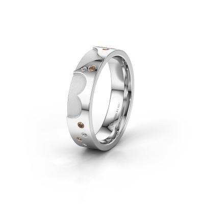 Trouwring WH2114L25A 925 zilver bruine diamant ±5x1.7 mm