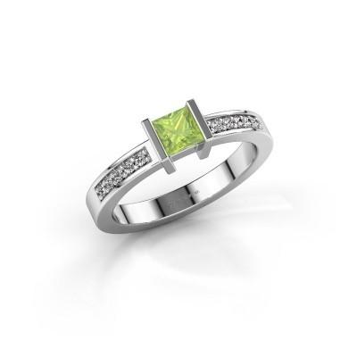 Engagement ring Jordan 950 platinum peridot 4 mm