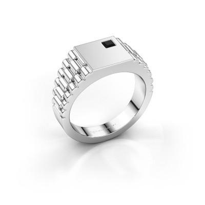 Foto van Heren ring Pelle 950 platina zwarte diamant 0.204 crt