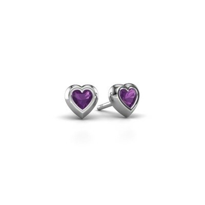 Picture of Stud earrings Charlotte 925 silver amethyst 4 mm