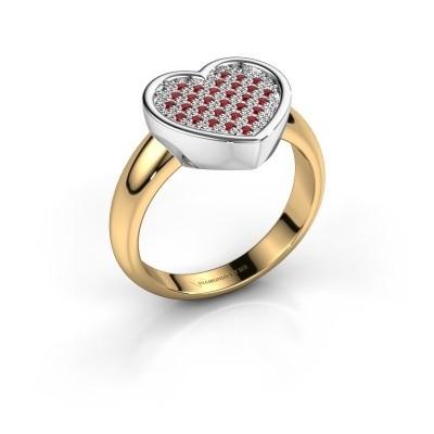 Foto van Ring Veerle 585 goud robijn 1 mm