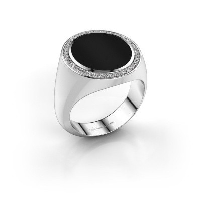 Signet ring Adam 5 950 platinum onyx 15x13 mm