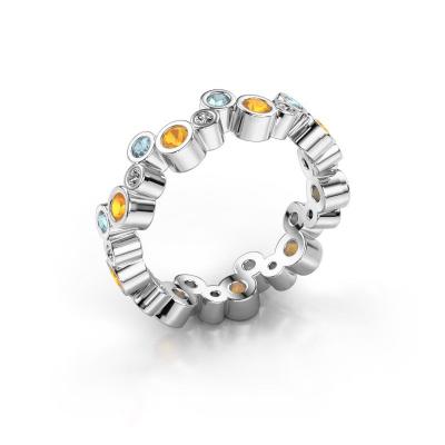 Ring Tessa 925 zilver citrien 2.5 mm