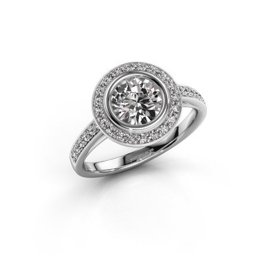 Verlovingsring Noud 2 RND 925 zilver diamant 1.344 crt