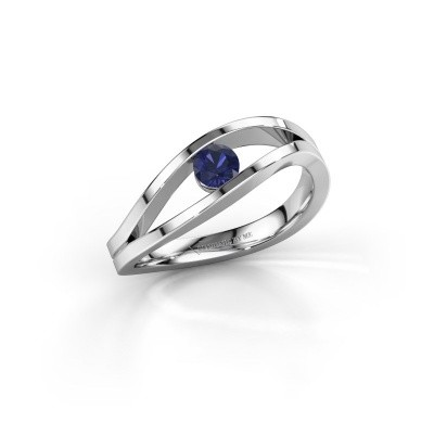 Picture of Engagement ring Sigrid 1 950 platinum sapphire 3.7 mm