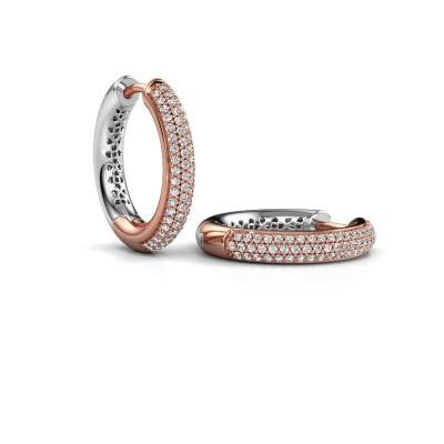 Foto van Creolen Tristan B 19 mm 585 rosé goud diamant 0.58 crt