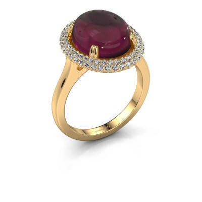 Ring Jayna 585 gold rhodolite 12x10 mm