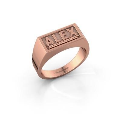 Foto van Monogram ring Marcio 375 rosé goud
