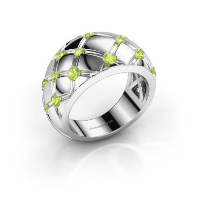 Ring Imke 585 white gold peridot 2.5 mm