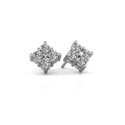 Picture of Stud earrings Maryetta 585 white gold diamond 0.80 crt