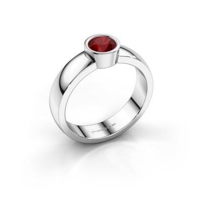 Foto van Ring Ise 1 585 witgoud robijn 4.7 mm