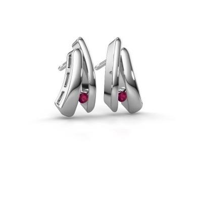 Picture of Earrings Liesel 925 silver rhodolite 2 mm