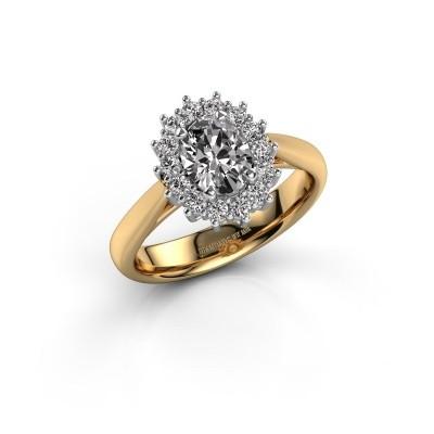Foto van Verlovingsring Margien 1 585 goud zirkonia 7x5 mm