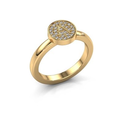Picture of Ring Initial ring 010 585 gold