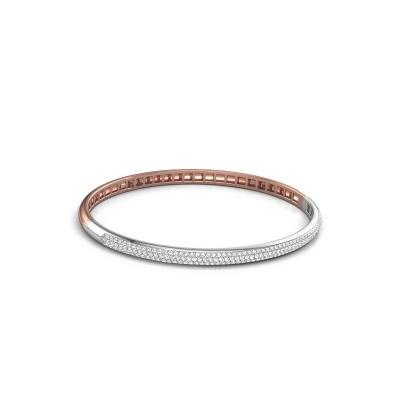 Slavenarmband Emely 4mm 585 rosé goud zirkonia 1.1 mm