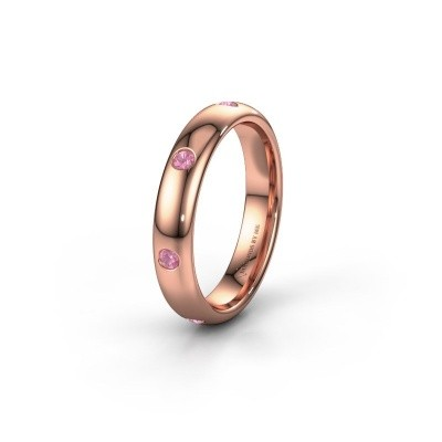 Alliance WH0105L34BP 585 or rose saphir rose ±4x2 mm