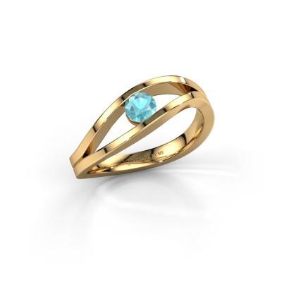 Bild von Ring Sigrid 1 585 Gold Blau Topas 4 mm