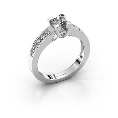 Verlovingsring Nina 2 925 zilver diamant 0.64 crt