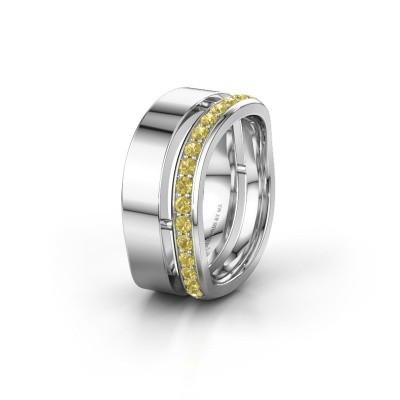 Weddings ring WH6008L18BP 950 platinum yellow sapphire ±10x2 mm