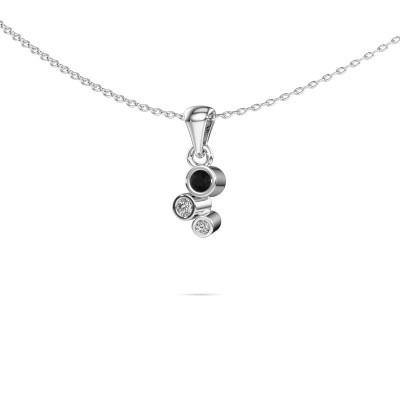 Foto van Hanger Tessa 585 witgoud zwarte diamant 0.117 crt