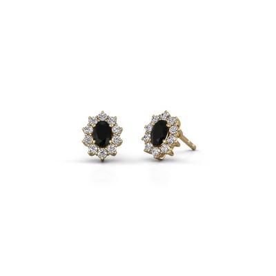 Ohrringe Leesa 375 Gold Schwarz Diamant 1.800 crt