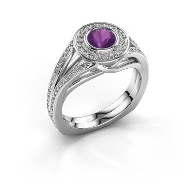 Picture of Ring Kellee 585 white gold amethyst 5 mm