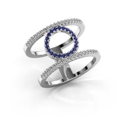 Ring Latoria 2 925 zilver saffier 1.1 mm