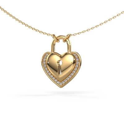 Photo de Collier Heartlock 585 or jaune diamant 0.115 crt
