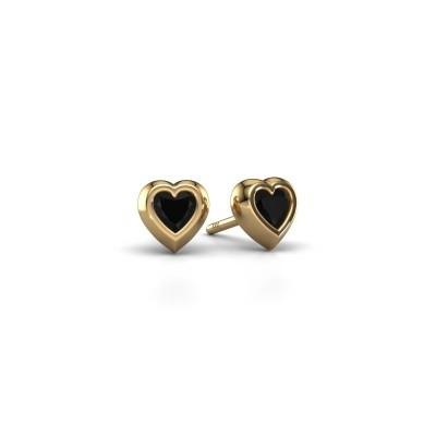 Oorknopjes Charlotte 585 goud zwarte diamant 0.60 crt