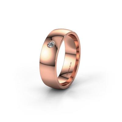 Foto van Trouwring WH0101L26AP 585 rosé goud diamant ±6x1.4 mm