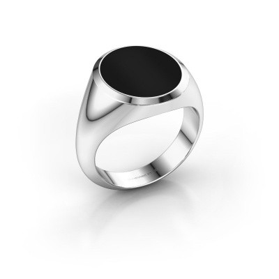 Picture of Signet ring Herman 5 950 platinum onyx 15x13 mm