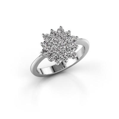 Engagement ring Vickey 2 585 white gold zirconia 2 mm