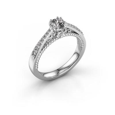 Foto van Verlovingsring Rozella 585 witgoud diamant 0.518 crt