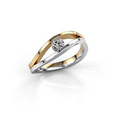 Photo de Bague Sigrid 1 585 or blanc diamant synthétique 0.25 crt