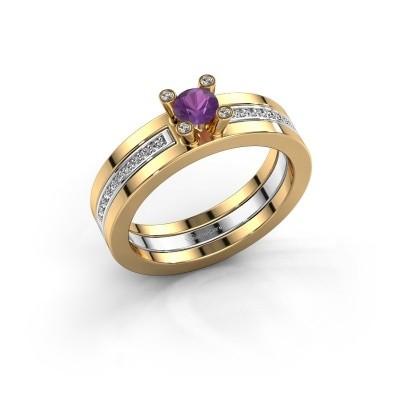 Foto van Ring Alisha 585 goud amethist 4 mm