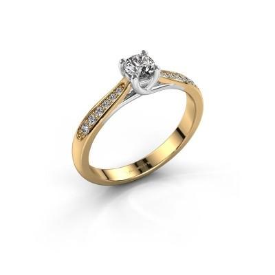 Verlovingsring Mia 2 585 goud zirkonia 4.2 mm