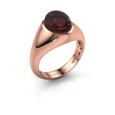Bague Zaza 375 or rose grenat 10x8 mm