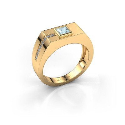 Herrenring Robertus 1 585 Gold Aquamarin 4 mm