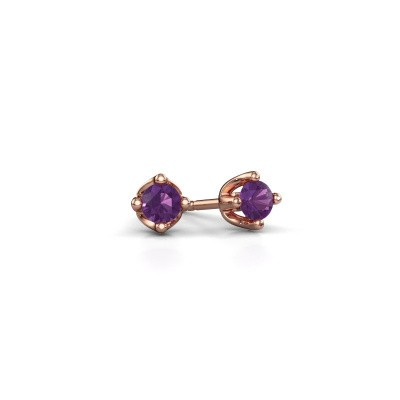 Picture of Stud earrings Briana 375 rose gold amethyst 3.7 mm